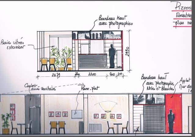 d coration d 39 int rieur pizz ria torretti aux rives de l 39 orne caen. Black Bedroom Furniture Sets. Home Design Ideas