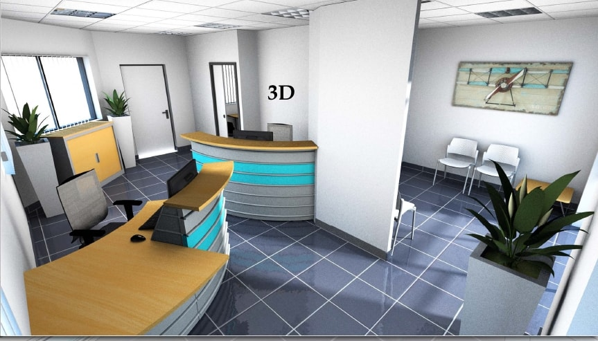 am nagement de l 39 accueil et mobilier de bureau d 39 un centre de contr le technique automobile. Black Bedroom Furniture Sets. Home Design Ideas