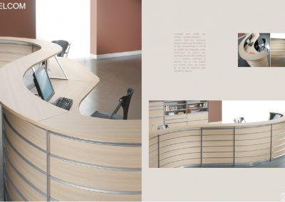 Mobilier de bureau, banque d'accueil à Coutance (Manche 50 en Normandie)