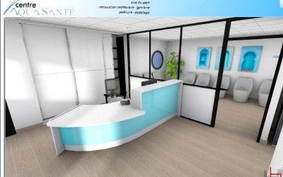Accueil & salle d'attente d'un Centre Aqua-Santé