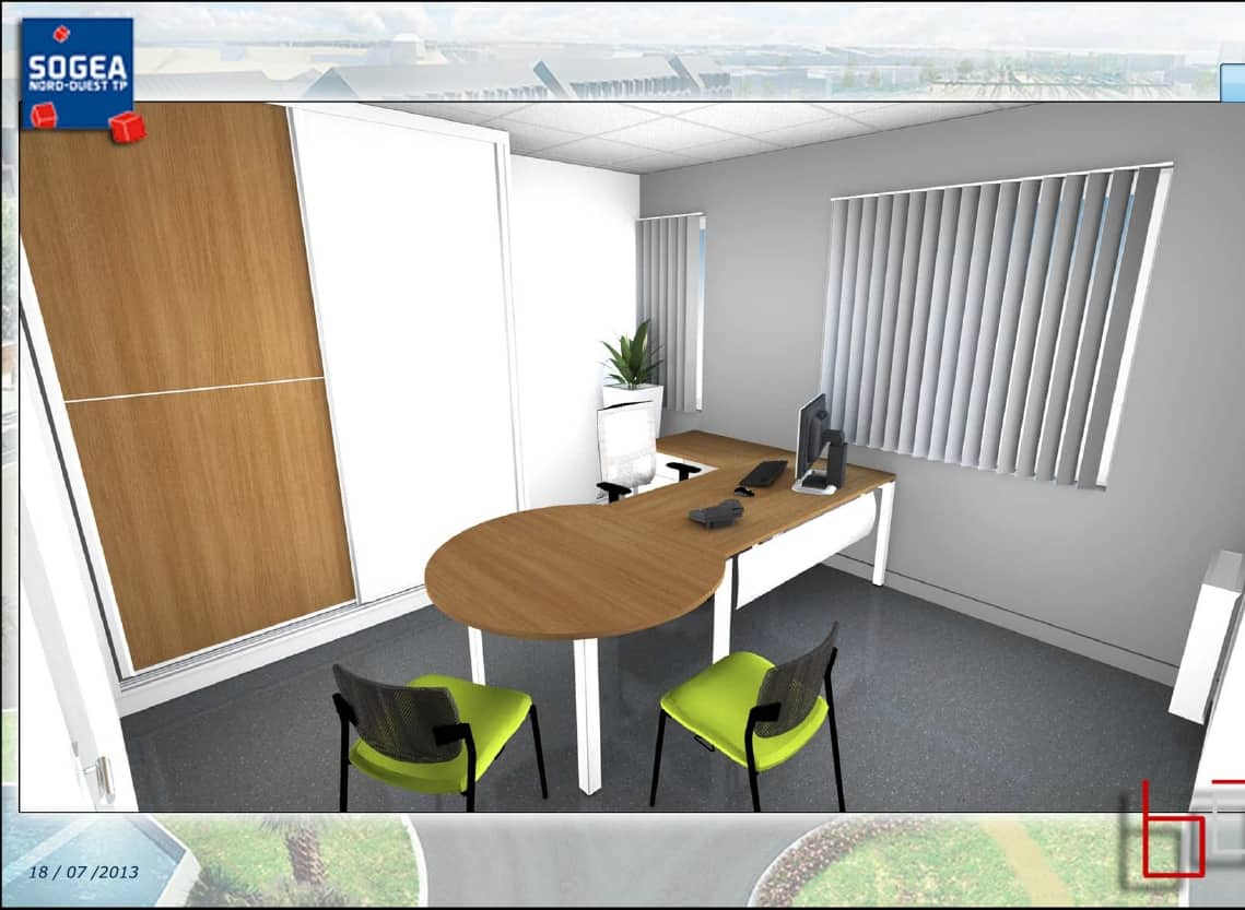 Am nagement bureau de la direction r gionale vinci sog a for Amenagement interieur 3d
