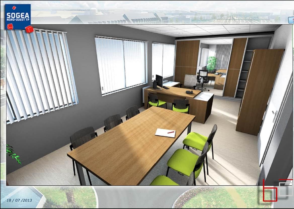 am nagement bureau de la direction r gionale vinci sog a nord ouest b d coration agencement. Black Bedroom Furniture Sets. Home Design Ideas