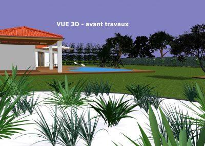 Aménagement extérieure - Vue 3D