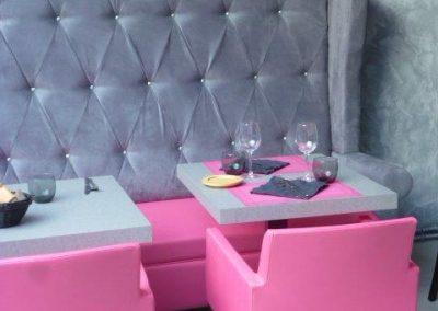 Appliques murales restaurant à Cabourg (Calvados - 14 en Normandie) (tables, fauteuils, banquettes non founries par BÔ_)