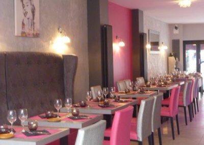 Appliques murales restaurant à Cabourg (Calvados - 14 en Normandie)-restaurant-basse-nornandie (fauteuils, tables et banquettes non fournies par BÔ)