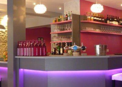 Comptoir bar LED restaurant à Cabourg Cavados
