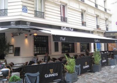 Équipement mobilier bar-restaurant à Paris Rollins Pub (5ème)