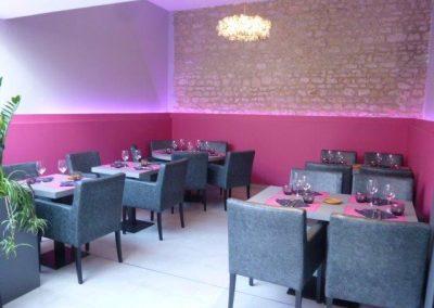 suspensions lumineuses restaurant à Cabourg (Calvados - 14 en Normandie) (fauteuils, tables et banquettes non fournies par BÔ)