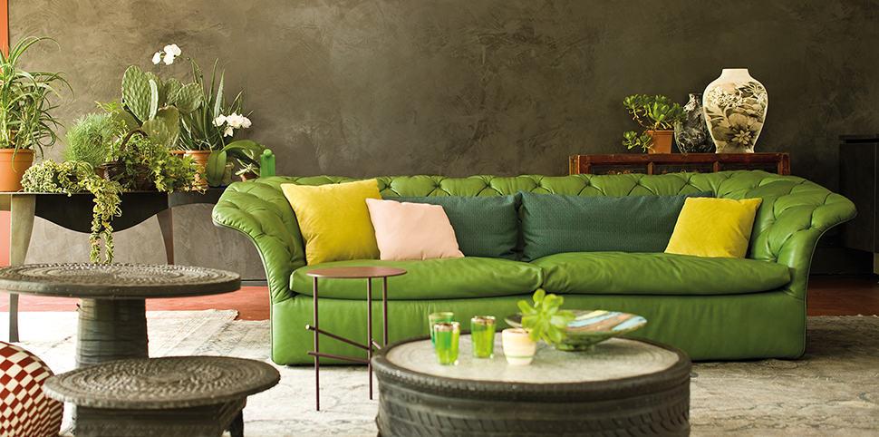 mobilier contemporain canapé vert caen calvados normandie