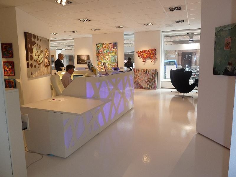 Mobilier d'accueil - Banque d'accueil lumineuse - Calvados 14 en Normandie