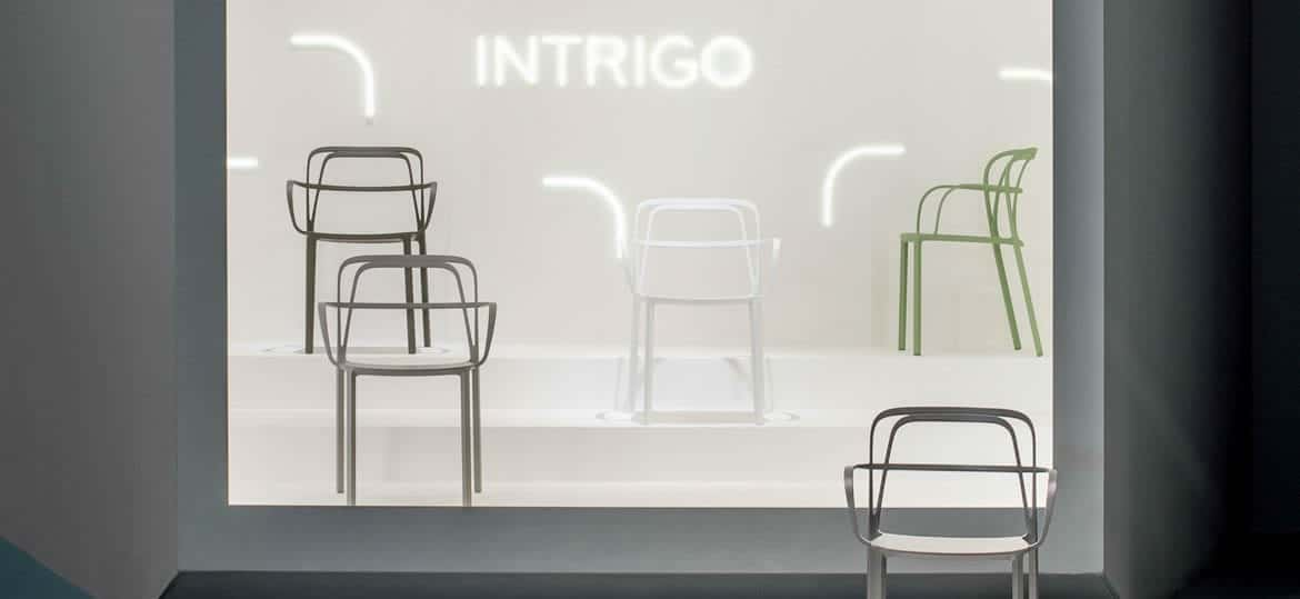 "Chaises design ""Intrigo Pedrali"" Calvados-14 (Normandie)"