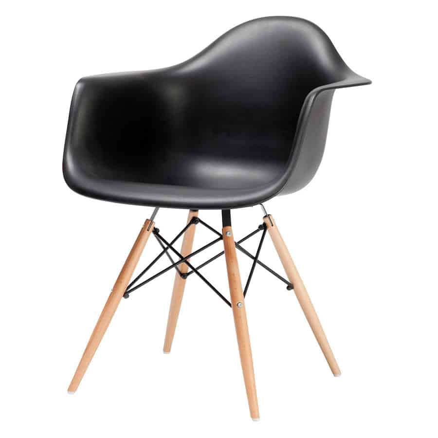 """Fauteuil design """"Daw Black Eames """" Calvados-14 (Nornandie)"""