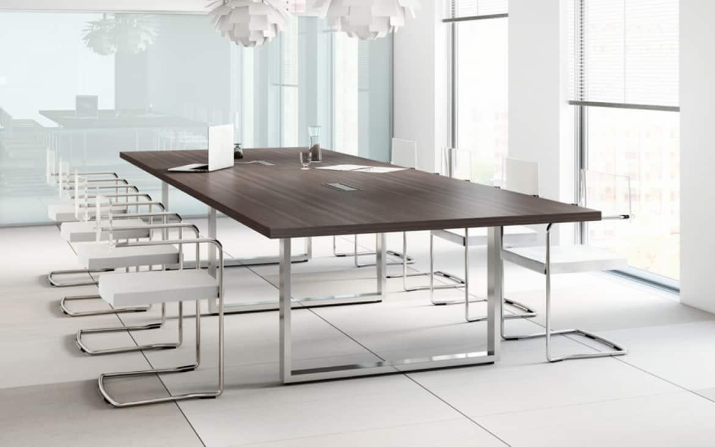 Mobilier salle de réunion - Table de conférence - Caen (Calvados-14 en Normandie) imitation cèdre