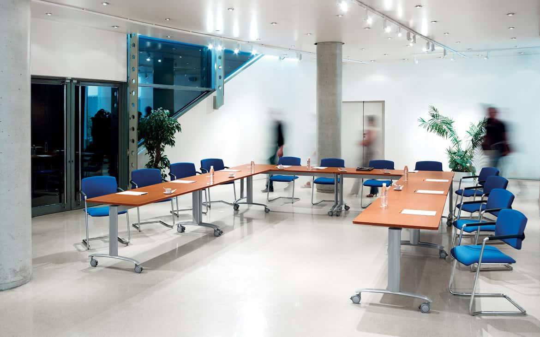 Mobilier salle de réunion - Tables de réunion abattantes en forme de U - Caen (Calvados-14 en Normandie)