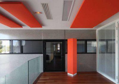 panneaux acoustiques plafond bureaux rouge Calvados-14 (Normandie)