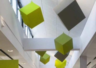 panneaux acoustiques verts et gris plafond Calvados-14 (Normandie)