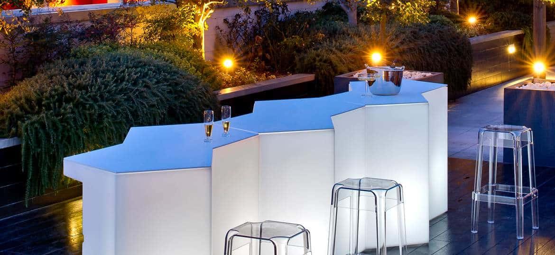 Comptoir bar restaurant terrasse Caen Calvados-14 en Normandie ICEBERG Pédrali