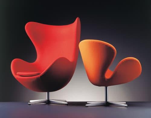 "Fauteuil design Vintage ""Egg Arne Jacobsen"" (Caen - Calvados - 14 en Normandie)"