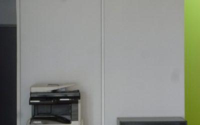 Installation de panneaux acoustiques – Accueil Laboratoire ACTALIA à Saint-Lô