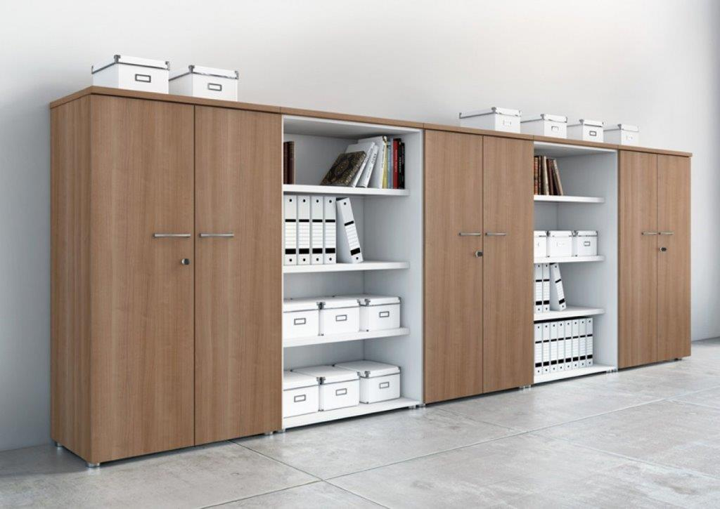 Classement, rangement de bureau (Calvados-Normandie) ouverts structures décor blanc