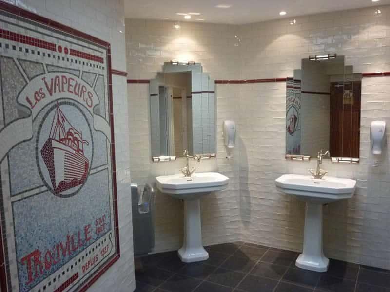 décoration d'intérieur, relooking d'intérieur commerces (Toilettes Bar Restaurant)