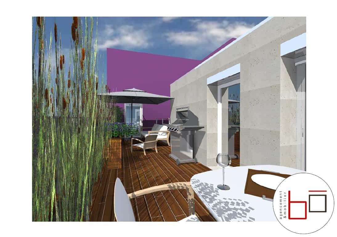 avant projet visuels 3d terrasse particulier h rouville saint clair caen. Black Bedroom Furniture Sets. Home Design Ideas