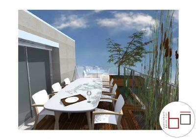 Avant projet - visuels 3d Terrasse particulier à Hérouville Saint-Clair (Caen)