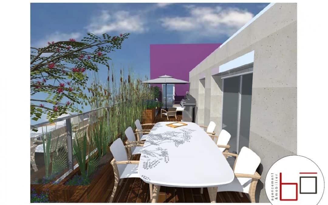 Avant projet – visuels 3d Terrasse particulier à Hérouville Saint-Clair (Caen)