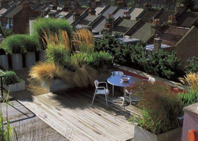 Décoration extérieure terrasse, patio (Caen - Calvados - 14 en Normandie)
