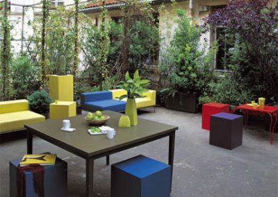 Décoration extérieure terrasse restauration (Caen - Calvados - 14 en Normandie)