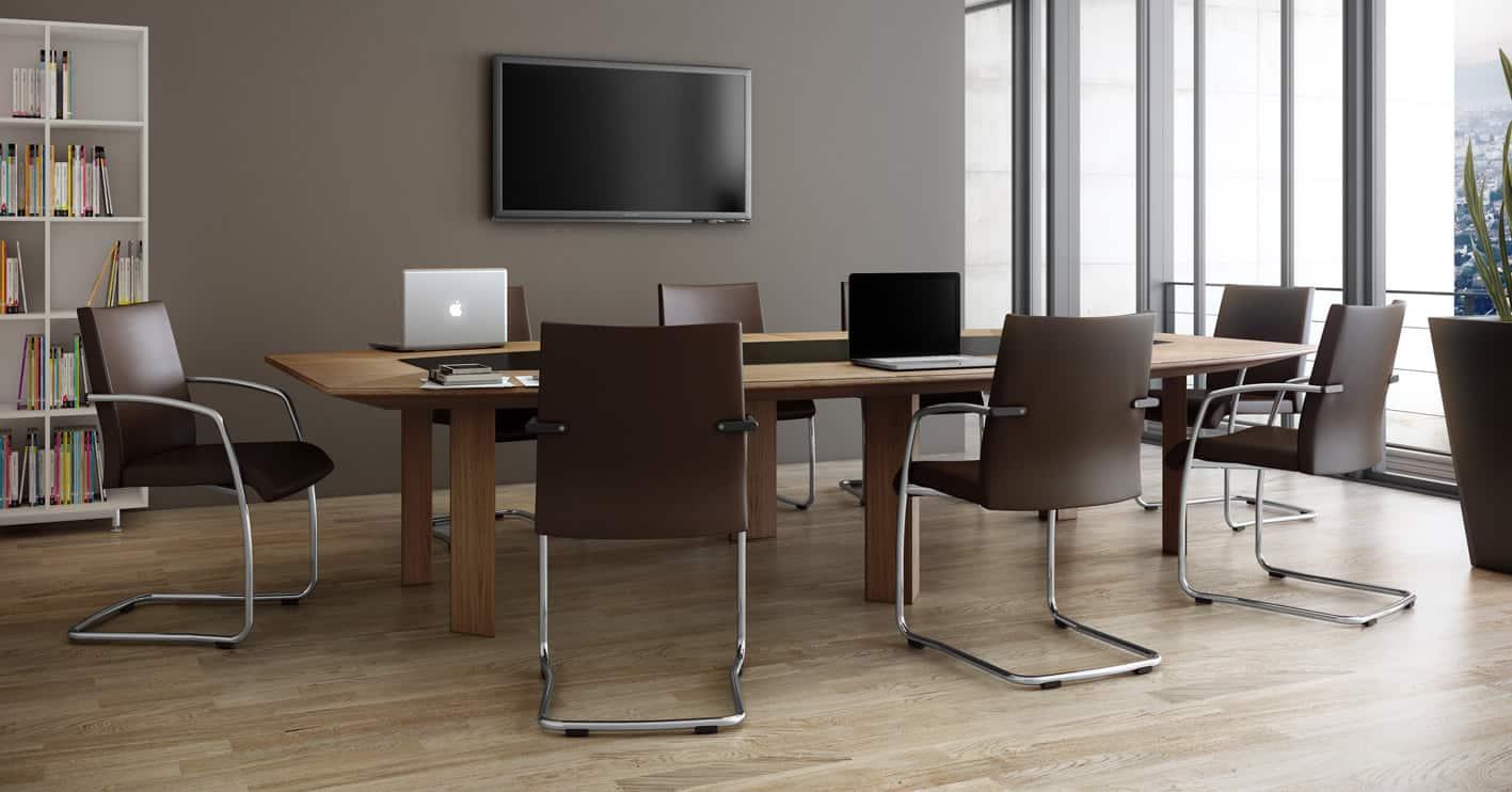 Sièges de bureau, fauteuil en cuir Réunion visiteur Zoom (Caen - Calvados - 14 en Normandie)
