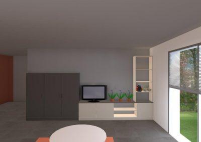 Agencement et aménagement du salon d'une maison d'un particulier (Caen - Calvados 14) en Normandie