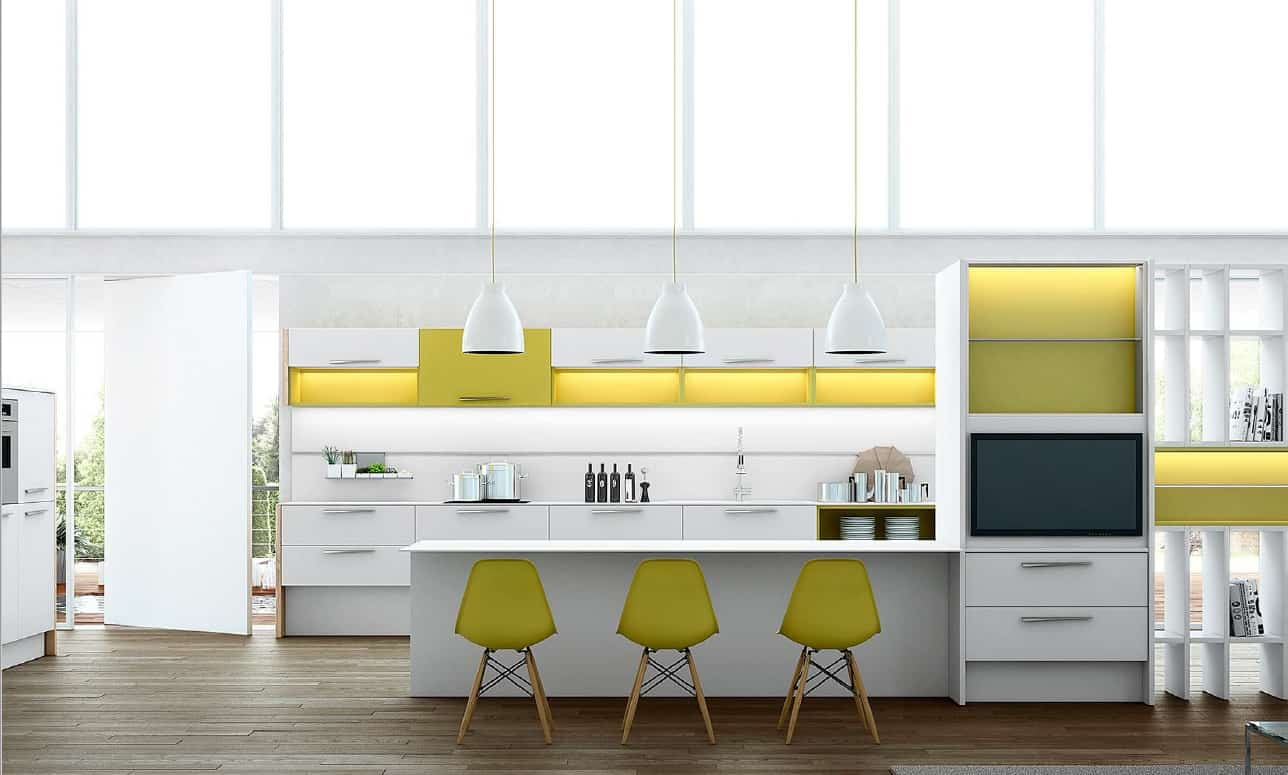 Stunning modele agencement cuisine contemporary seiunkel for Plan agencement cuisine