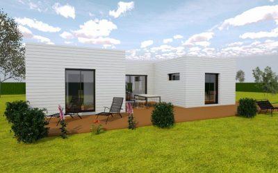 Agencement extérieur et intérieur d'une résidence d'habitation (avant projet)