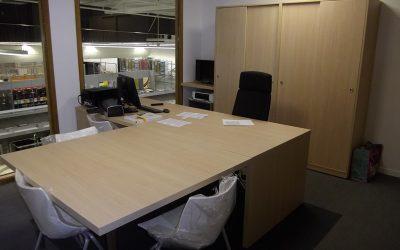 Aménagement de bureaux & équipement en mobilier pour Brico Leclerc à Granville dans la Manche (50)