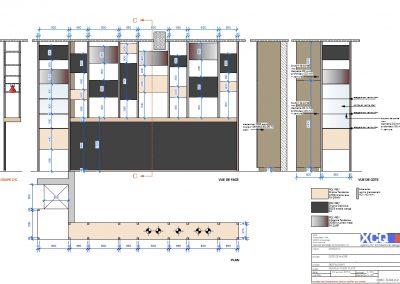 agencement et mobilier projet de restauration à Caen (Calvados - 14) en Normandie