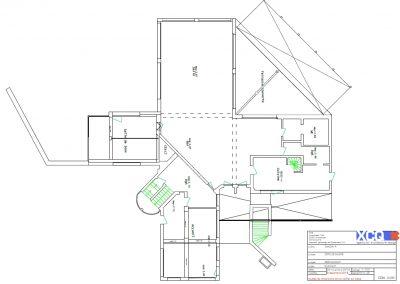 Visuel 2D d'agencement et mobilier d'un restaurant à Caen (Calvados - 14) en Normandie