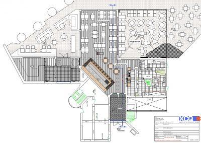 Proposition d'agencement et mobilier d'un restaurant à Caen (Calvados - 14) en Normandie