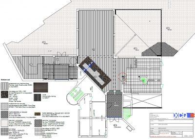 Plan 2D Agencement et mobilier d'un restaurant à Caen (Calvados - 14) en Normandie
