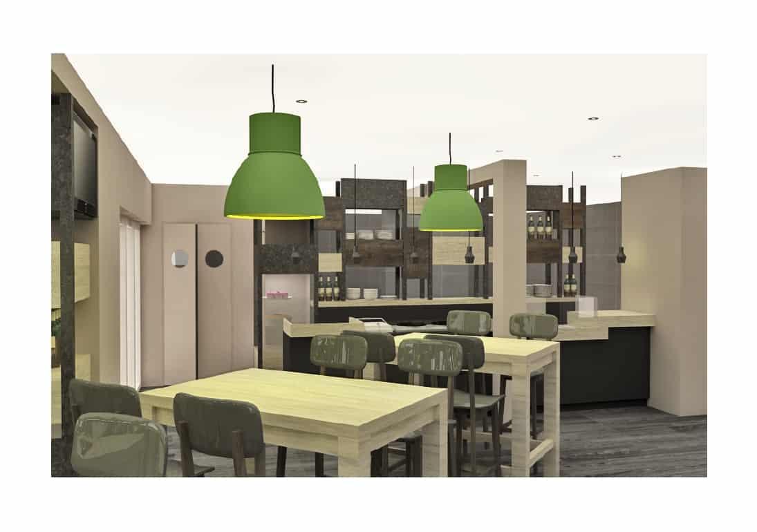 Agencement & mobilier d'un restaurant à Caen (Calvados - 14) en Normandie
