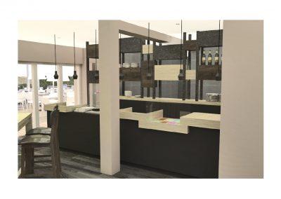 Agencement et mobilier d'un restaurant à Caen (Calvados - 14) en Normandie