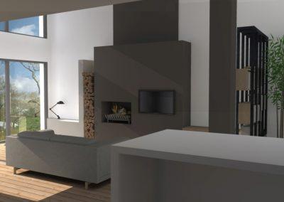Agencement et aménagement du salon d'une résidence ou maison privée (visuels 3D) Caen - Calvados - 14 en Normandie