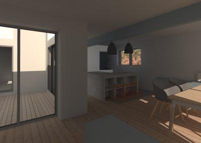 Agencement et aménagement de la salle à manger d'une maison privée (visuels 3D) Caen - Calvados - 14 en Normandie