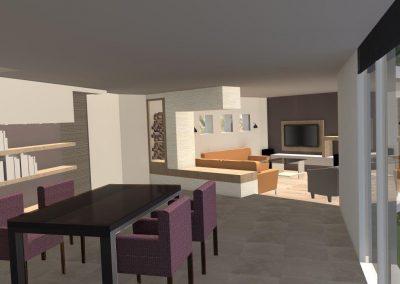 Agencement et aménagement de la salle à manger d'une maison d'un particulier (Caen - Calvados 14) en Normandie