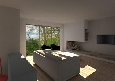 Agencement et aménagement du salon d'une maison privée (visuels 3D) Caen - Calvados - 14 en Normandie