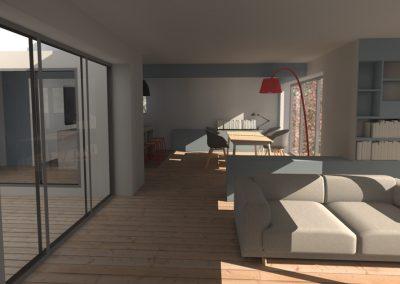 Agencement et aménagement salle à manger d'une résidence ou maison privée (visuels 3D) Caen - Calvados - 14 en Normandie
