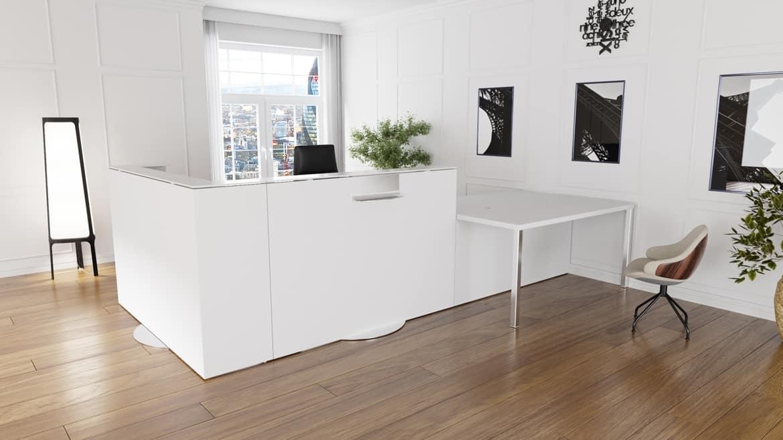 comptoir bureau best mini bureau comptoir desk with. Black Bedroom Furniture Sets. Home Design Ideas