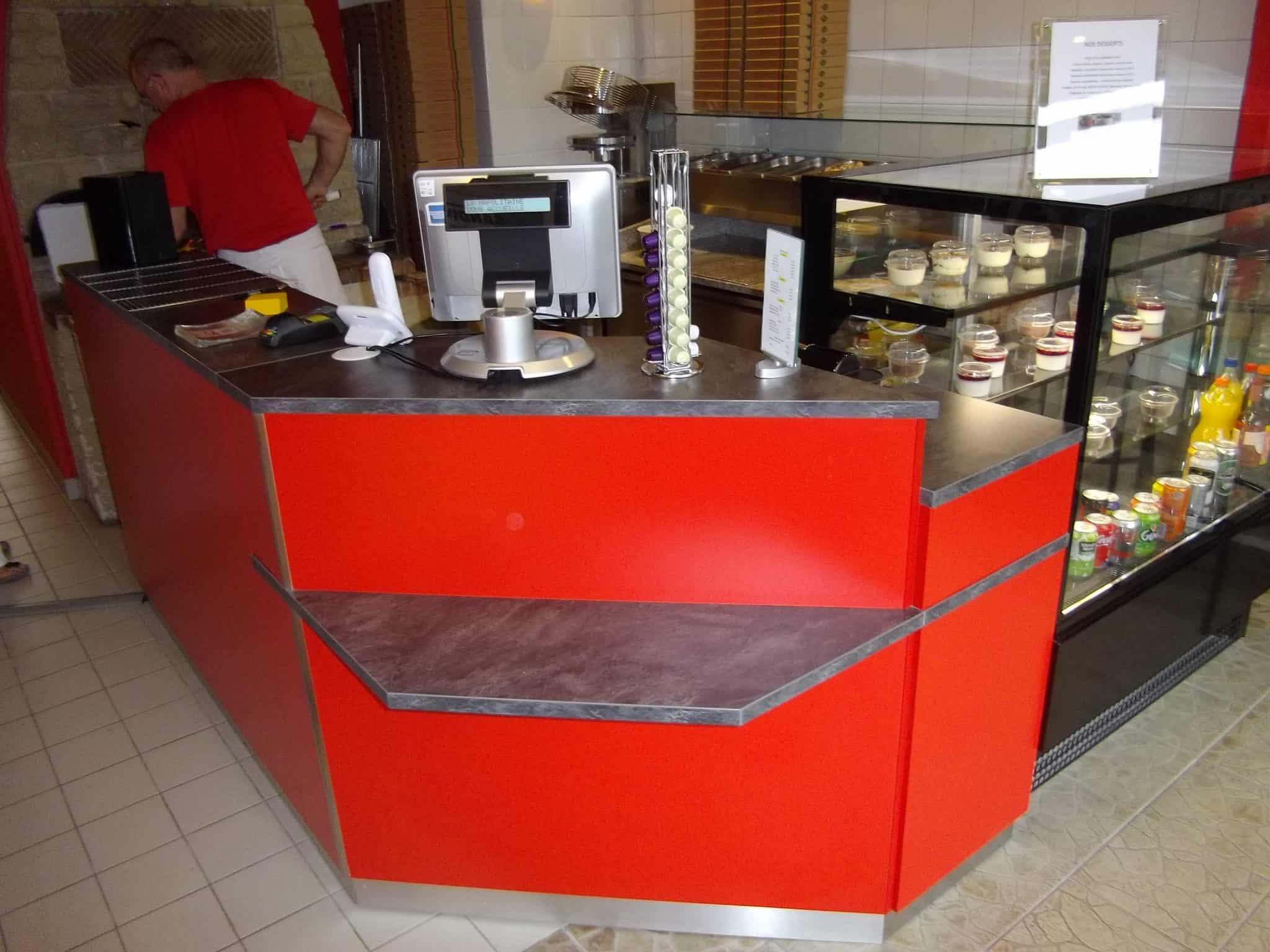 mobilier restauration comptoir bar pour pizzeria la napolitaine caen. Black Bedroom Furniture Sets. Home Design Ideas