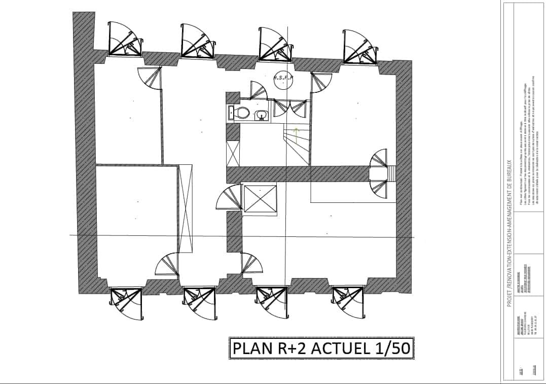 R novation extension et am nagement bureau d 39 un immeuble 92 for Immeuble bureau plan