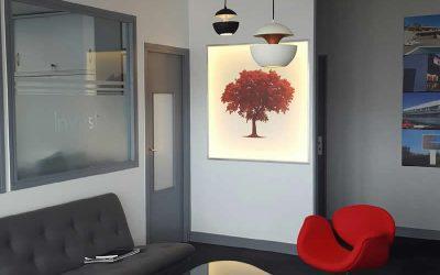 Relooking d'intérieur de l'accueil de bureau à Carpiquet (près de Caen)